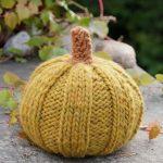 Free Knitting Pattern for Halloween Pumpkins