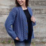 Free Knitting Pattern for a Cabled Concerto Cardigan