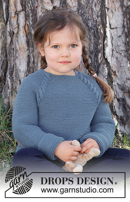 Free Knitting Pattern for a Child's Raglan Jumper