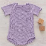 Free Knitting Pattern for a Summer Baby Romper