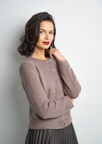 Free Knitting Pattern for an Easy Cardigan Enchant