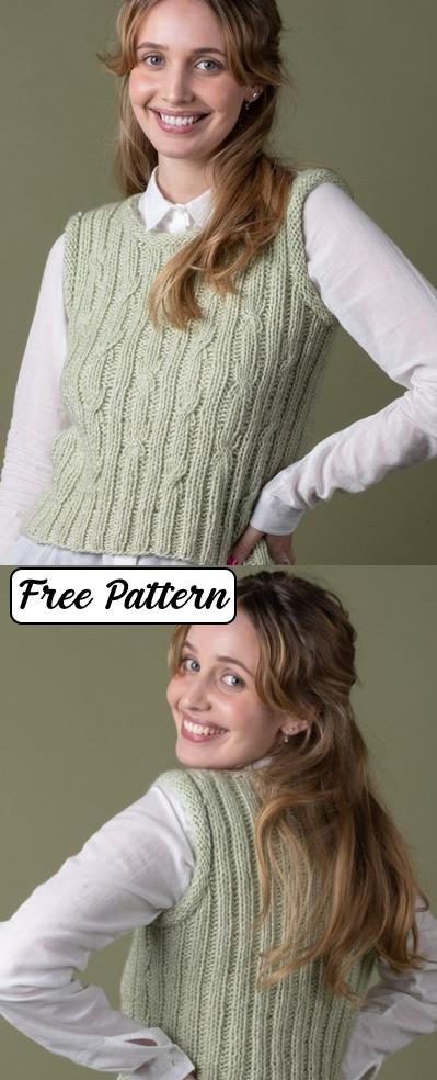 Free Vest Knitting Patterns for Women 2020