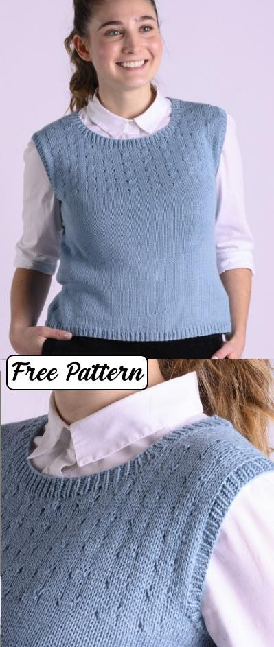 Free easy Vest Knitting Patterns for Women 2020