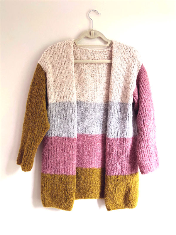 Free knitting pattern for a simple cardigan