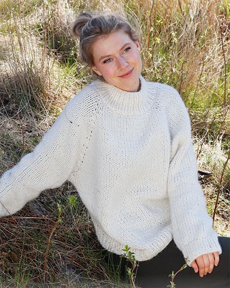 High Neck Raglan Sleeve Sweater Pattern