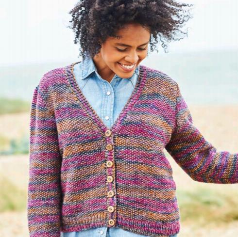 Knitting Pattern for a Cable and Seed Stitch Cardigan