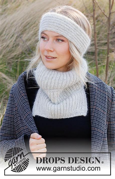 head band and neck warmer set free knit pattern
