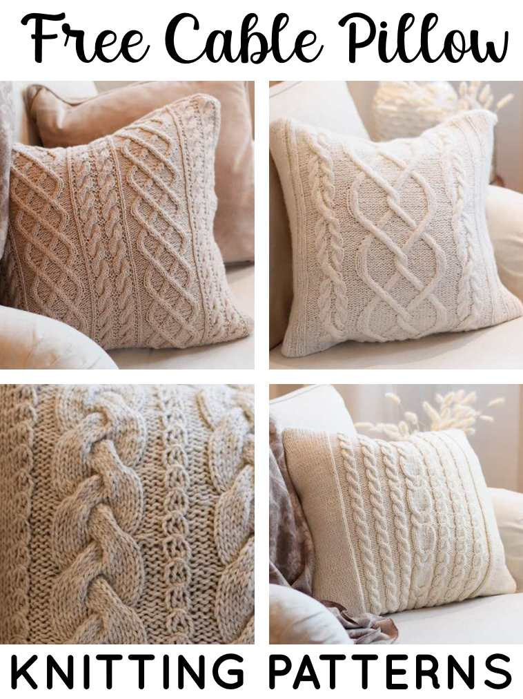 Free Cable Knit Pillow Patterns