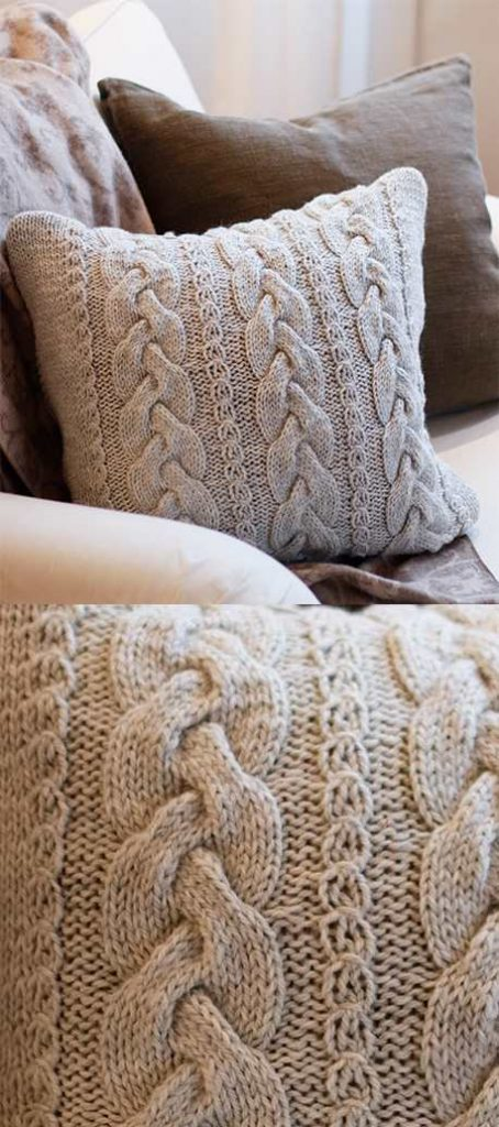 Free Cable Pillow Knitting Pattern