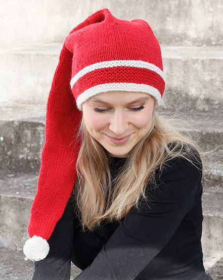 Free Christmas Knitting Patterns for 2020 Adult elf hat