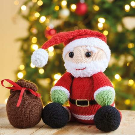 Free Christmas Knitting Patterns for 2020 Santa toy