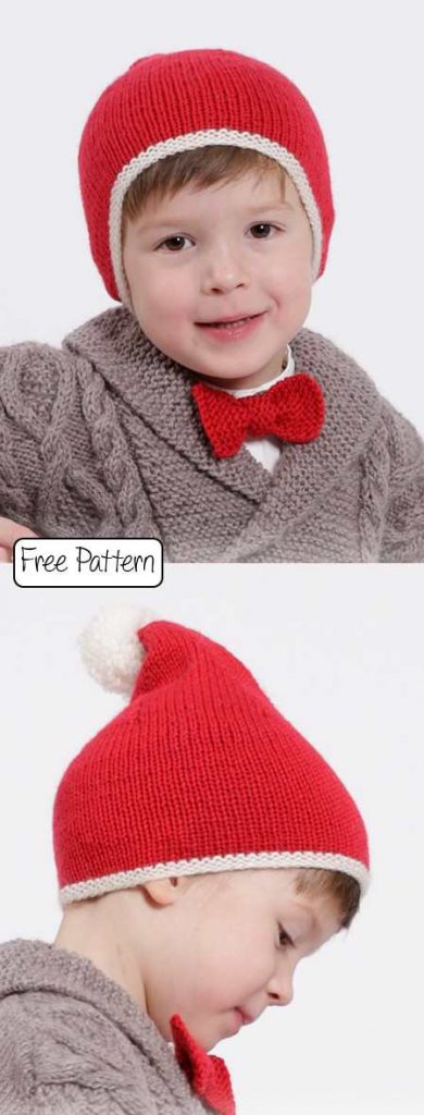Free Christmas Knitting Patterns for 2020 kids santa hat
