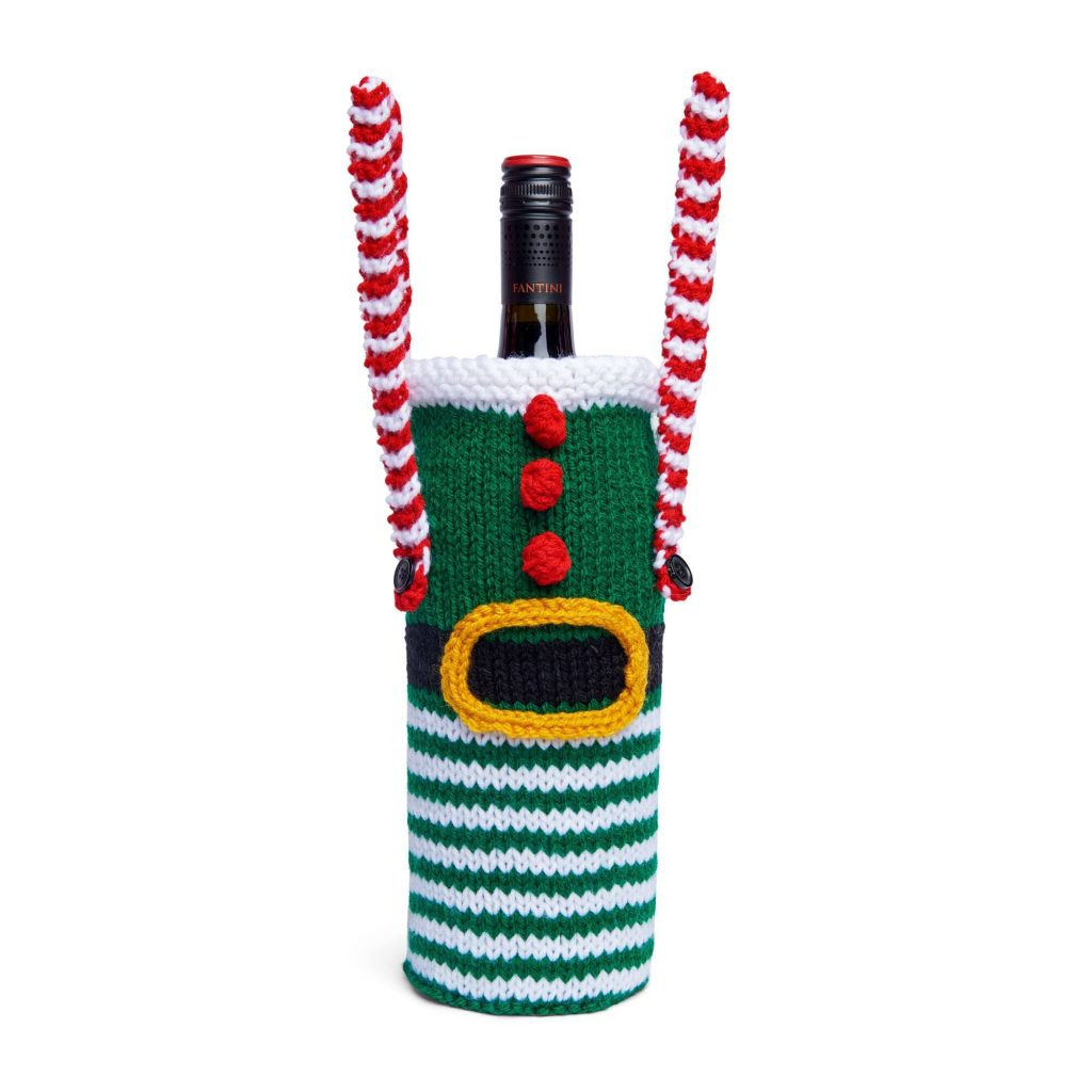 Free Christmas Knitting Patterns for 2020 wine bottle cover
