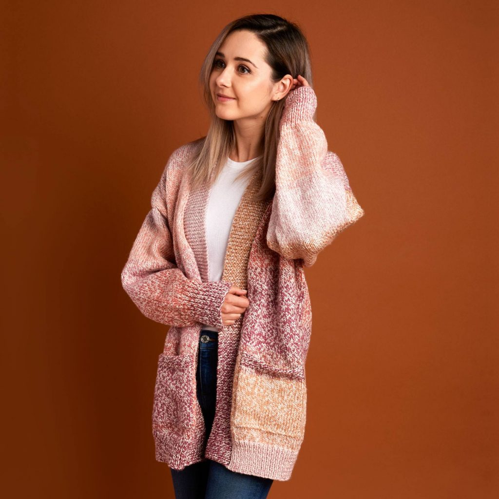 Free Knitting Pattern for a Dropped Shoulder Cardigan