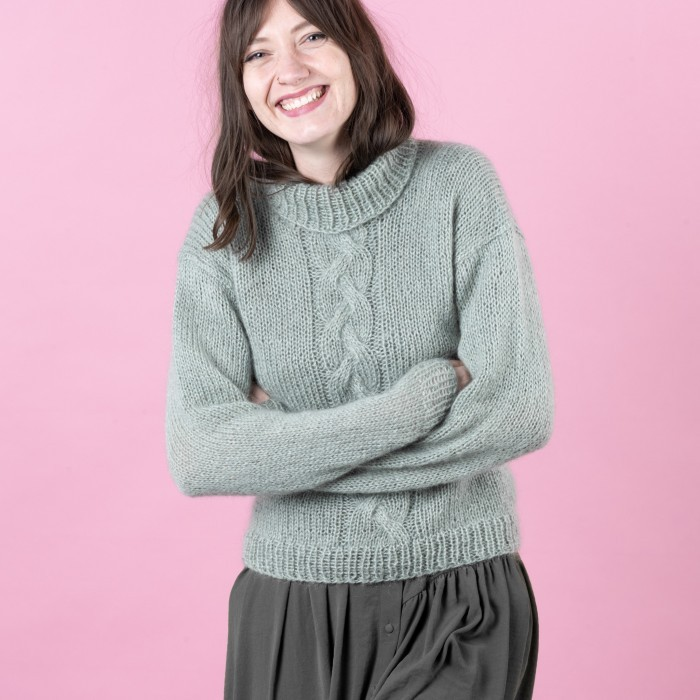 Free-Cute-Cable-Sweater-Knitting-Pattern