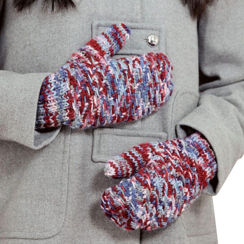 Free Knitting Pattern for Slipped Stitch Mittens