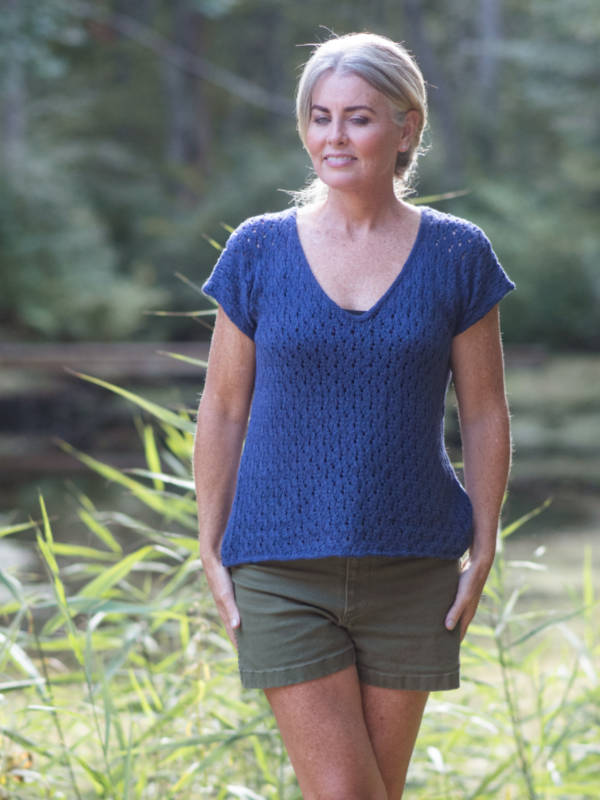 free knit pattern for a ladies top