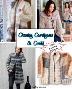 8 Ladies Chunky Cardigan Knitting Patterns Free