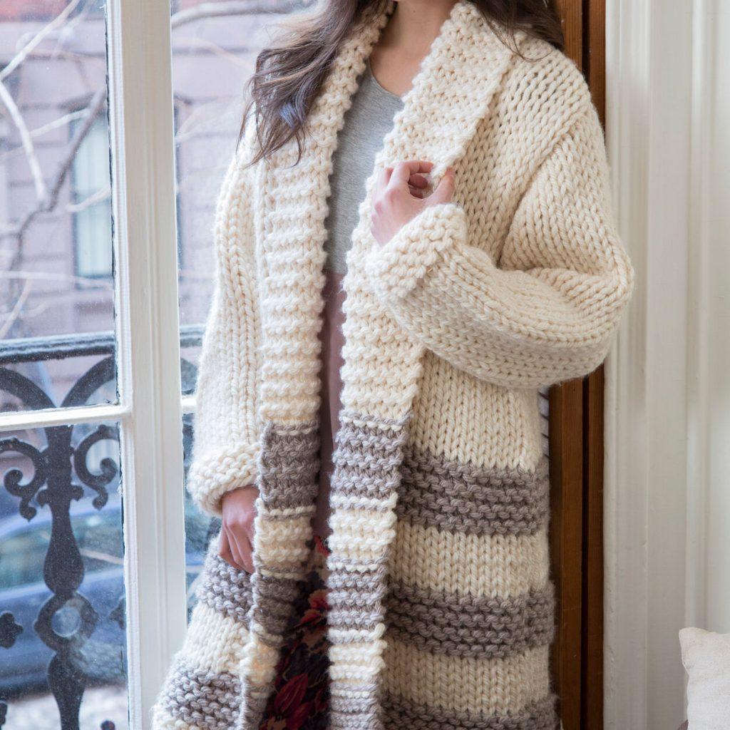 Easy Ladies Chunky Cardigan Knitting Patterns Free