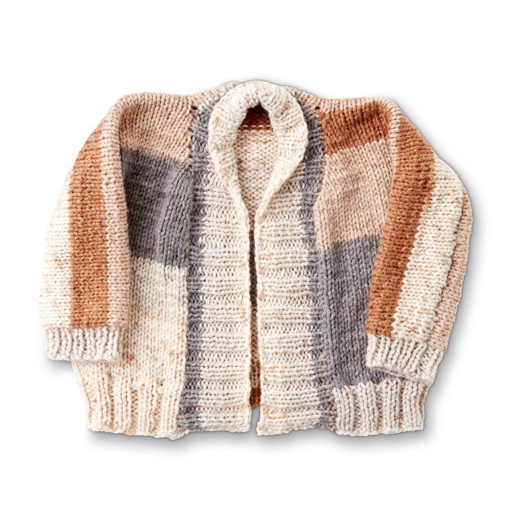 Easy bulky yarn cardigan knitting pattern