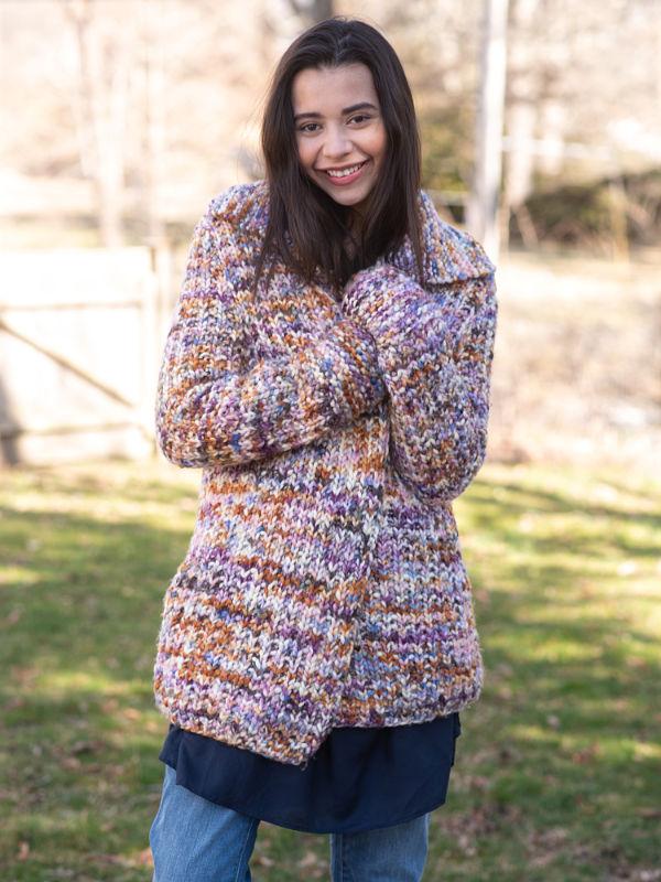 free knitting pattern for a chunky yarn cardigan