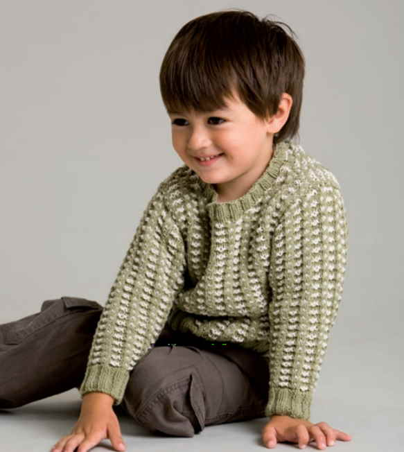Free knitting pattern for 8 ply cotton jumper for toddlers and kids