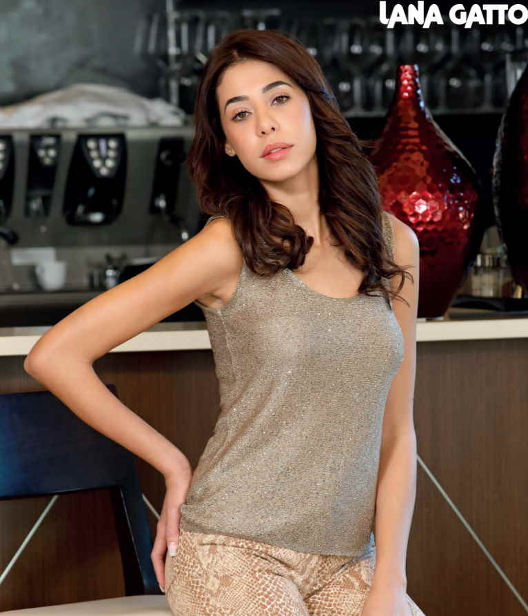 Free Knitting Pattern for a Gold Top