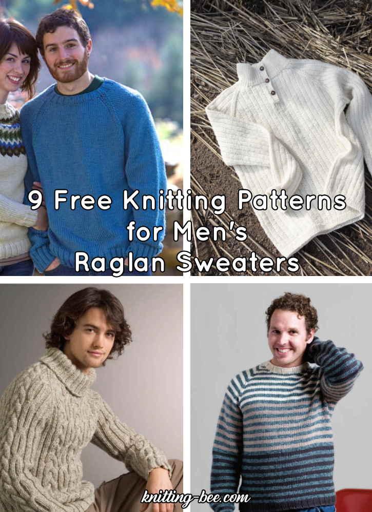 9 Free Knitting Pattern for Men's Raglan Sweater