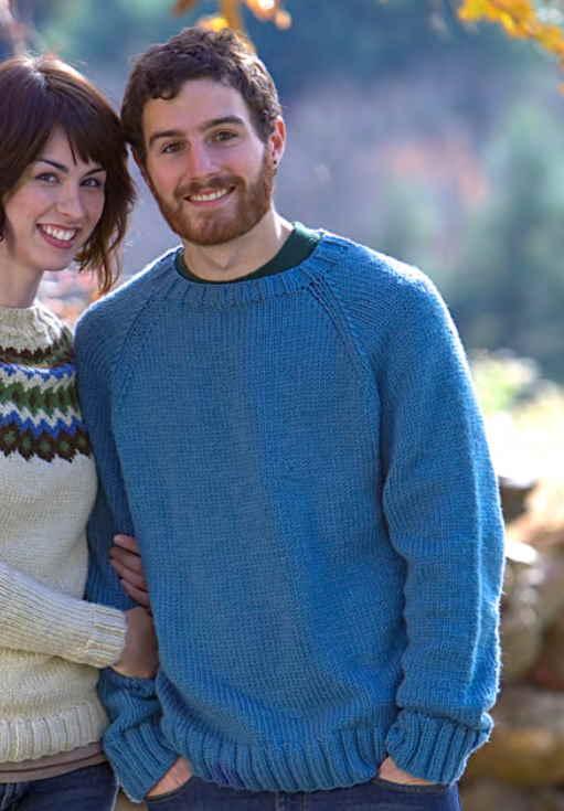 Easy Knitting Pattern for Men's Raglan Sweater