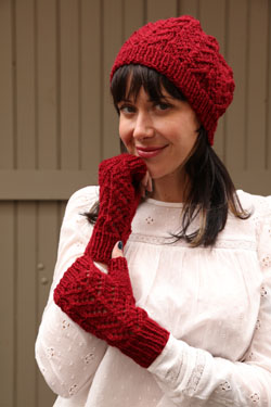 Free Knit Pattern for a Beanie and Mitts Set