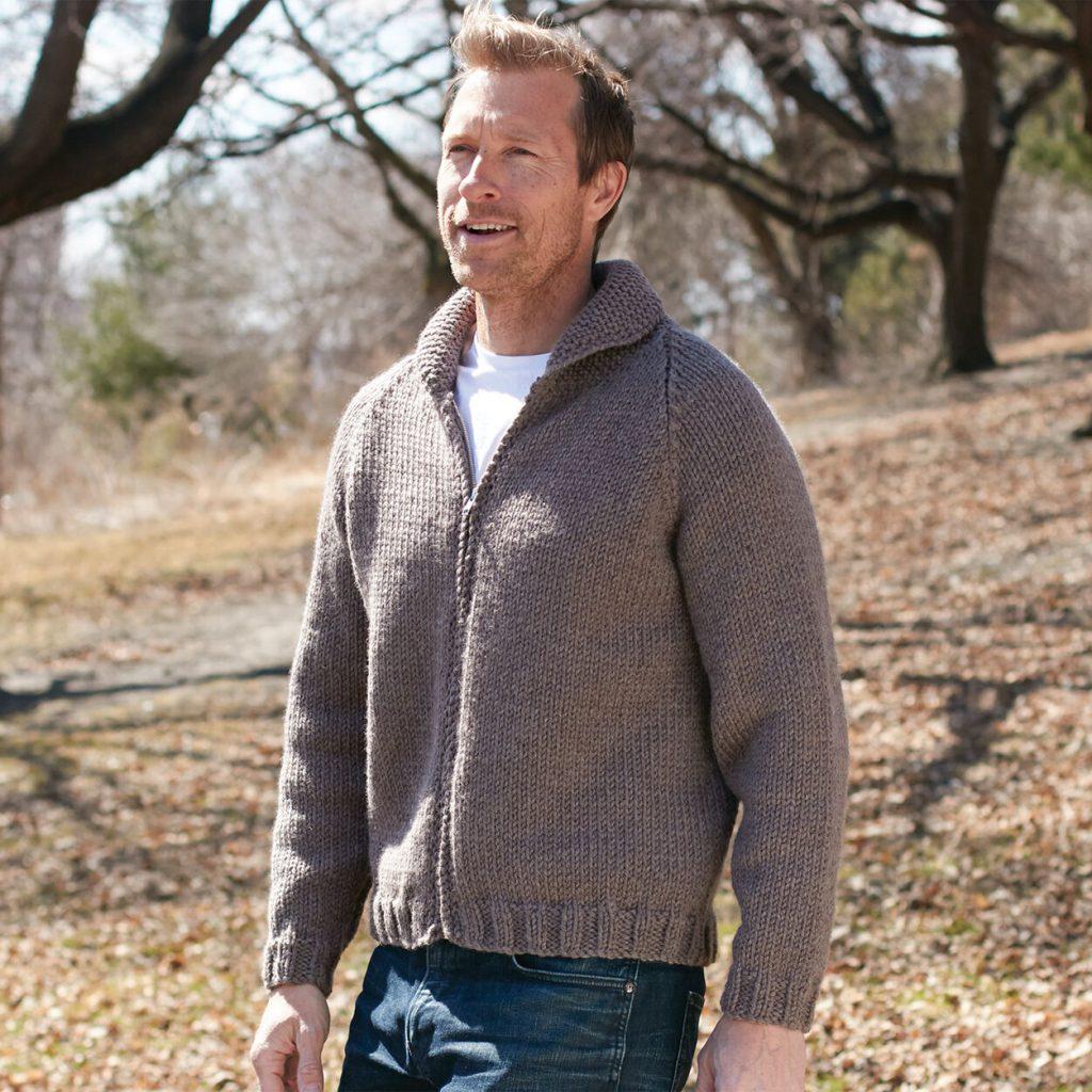 Free Knitting Pattern for Men's Raglan Sweater easy