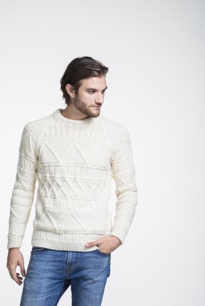 Free Knitting Pattern for Men's Raglan Sweater texture