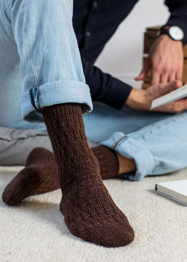 Free Knitting Pattern for Men's Socks
