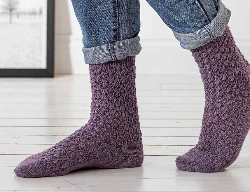 Free Knitting Pattern for Sendai Socks 2021