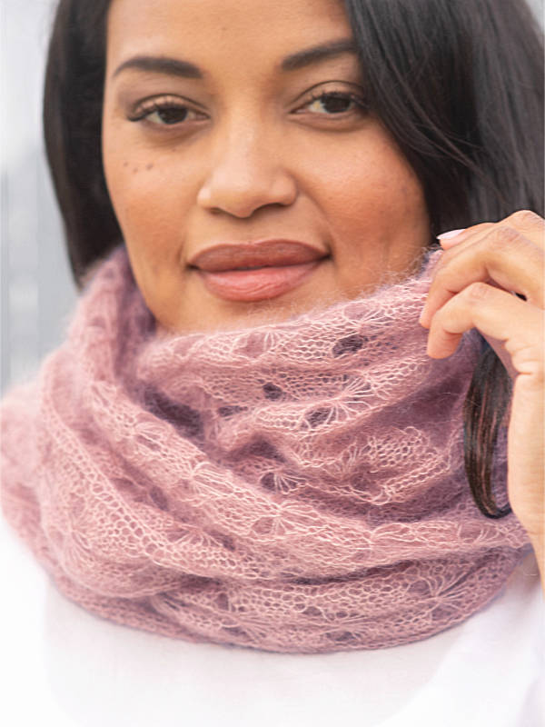 Free Knitting Pattern for a Delicate Lace Scarf