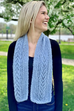 Free Knitting Pattern for a Lace Avita Scarf