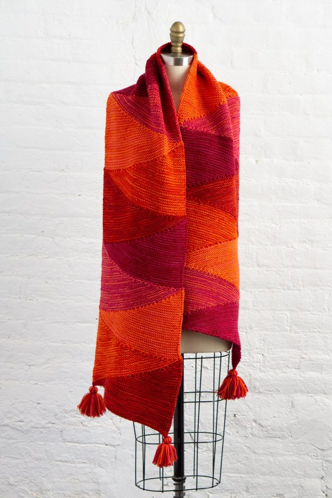 Free Knitting Pattern for a Zing-Zing Wrap
