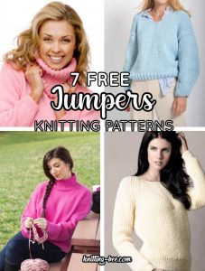 7 Free Knitting Patterns for Women's Jumpers to Download