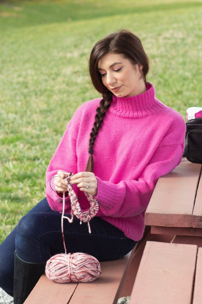 Free Knitting Patterns for Women's Jumpers with a high neck