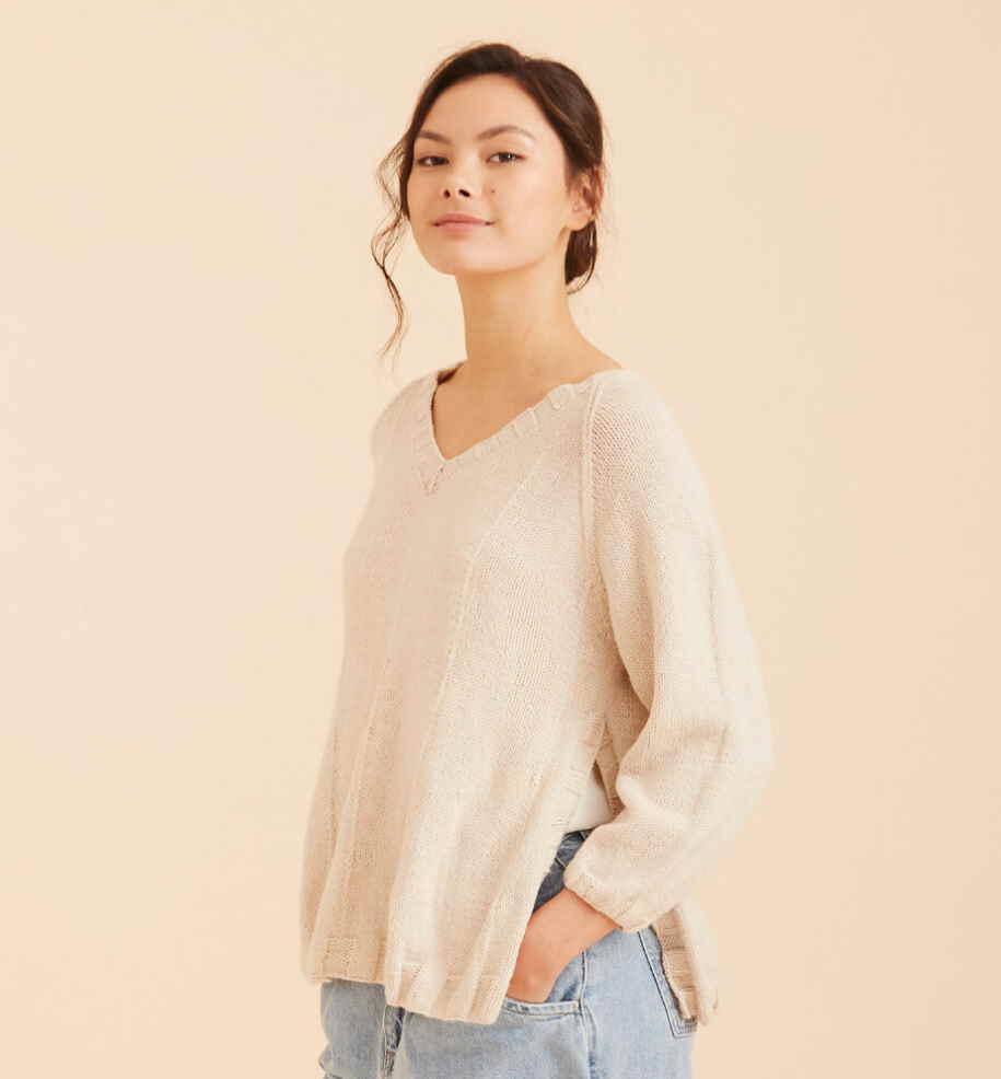 easy free jumper knitting pattern for women