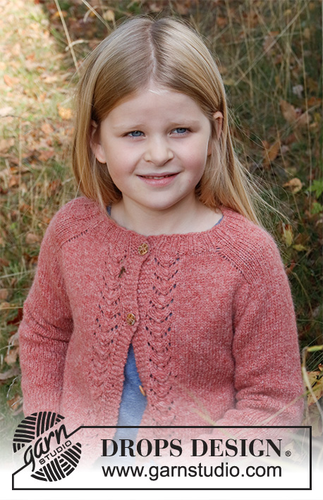 Cardigan Knitting Patterns for Girls with lace