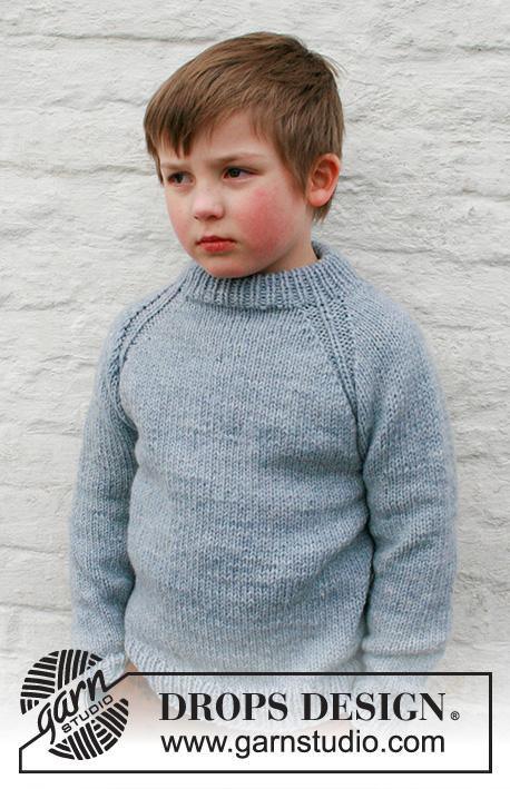 Free Knitting Pattern for Boys raglan sweater 2021