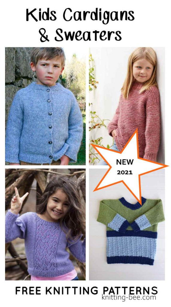 Free Knitting Patterns for Kids Cardigans and Sweaters for 2021
