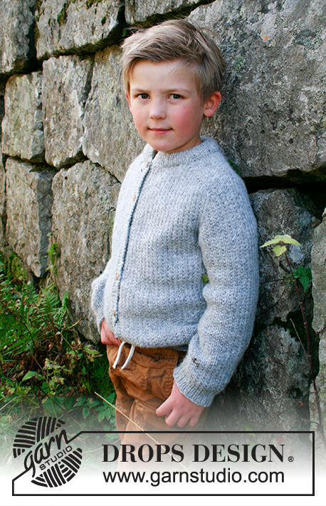 Free knitting pattern for a boys jacket