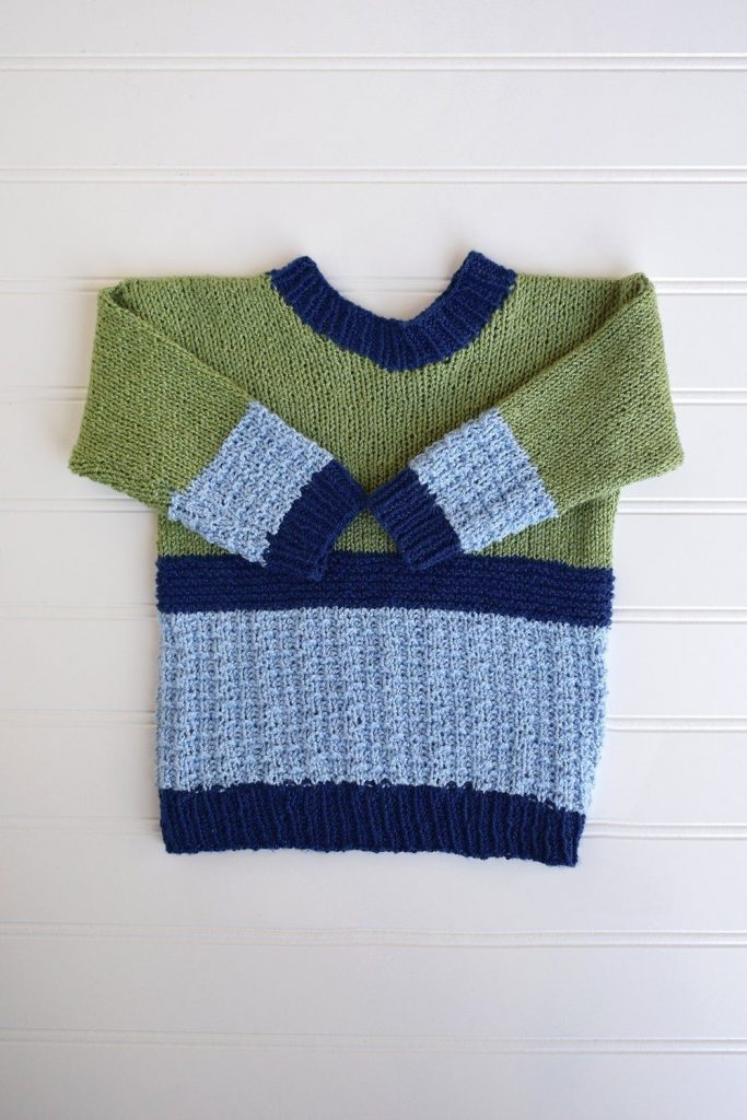 Free sweater knitting pattern for boys toddlers