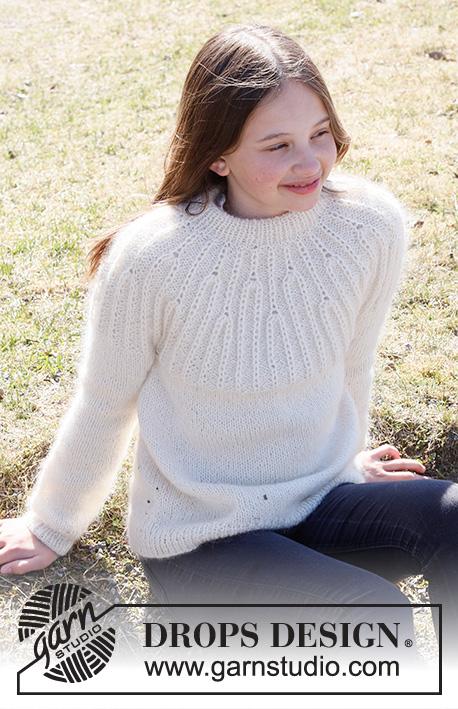Free sweater knitting pattern for girls 2021