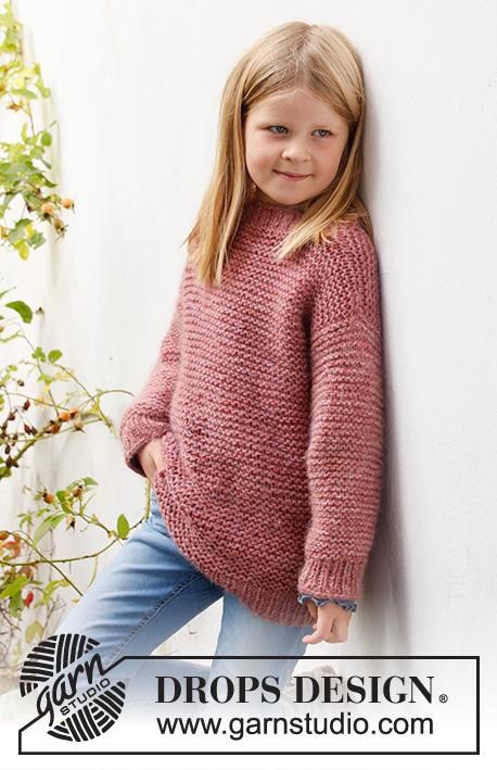 easy garter stitch sweater knitting pattern for girls free