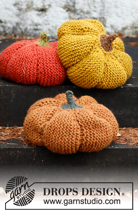Free Knitting Pattern for a Knitted Pumpkin Pillow