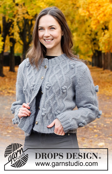 Free Knitting Patterns Ladies Jackets with cables and bobbles