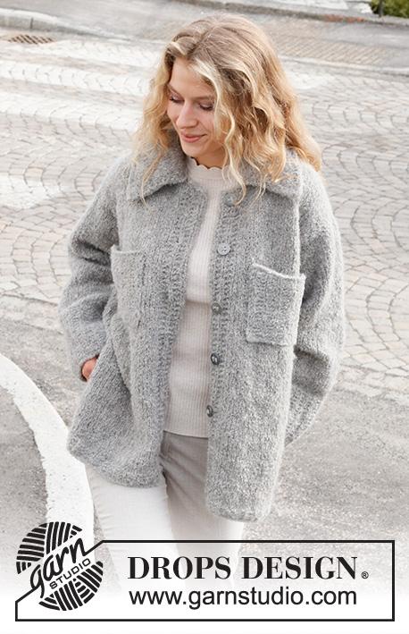 Free Knitting Patterns Ladies collar jacket